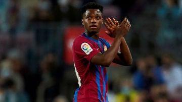 Ansu Fati, con el Barça