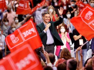 Pedro Sánchez, durante el Congreso Federal del PSOE