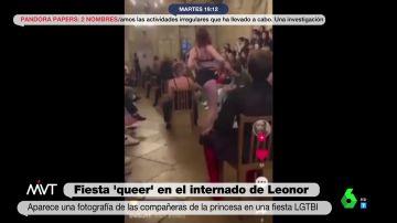 Las imágenes de la fiesta 'queer' en el internado de la princesa Leonor: desfiles, streaptease y cabaret