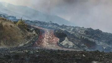 El volcán de La Palma a vista de dron