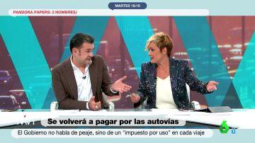 La reflexión de Iñaki López y Cristina Pardo sobre el argumento del Gobierno para que las autopistas sean de pago