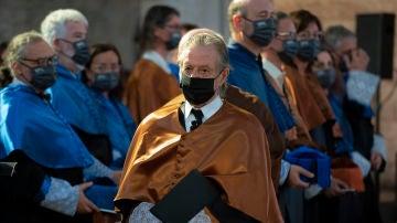 El arquitecto Ricard Bofill durante el acto de investidura como doctor 'honoris causa' por la Universidad Politécnica de Cataluña.
