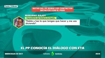 Salen a la luz las conversaciones secretas en las que el Gobierno de Zapatero informaba a Rajoy sobre su negociación con ETA en 2011