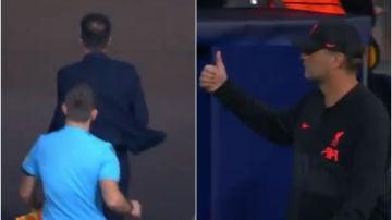 Simeone y Klopp al término del Atleti-Liverpool