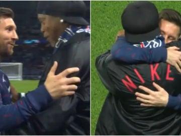 El afectuoso abrazo entre Leo Messi y Ronaldinho que emociona al mundo del fútbol