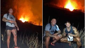 Identifican a los irresponsables que se acercaron al volcán para hacerse un selfie