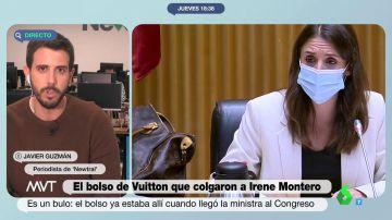 Las imágenes que zanjan la polémica: Irene Montero no llevaba un bolso de Louis Vuitton en la Comisión de Igualdad