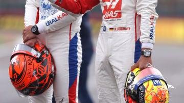 Nikita Mazepin y Mick Schumacher