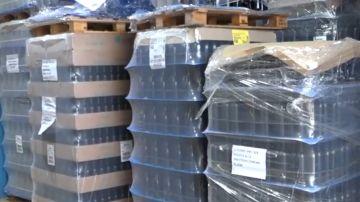 Parte de la mercancía precintada por los Mossos d'Esquadra durante la investigación