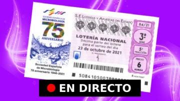 Lotería Nacional: comprobar resultados de hoy, sábado 23 de octubre, en directo