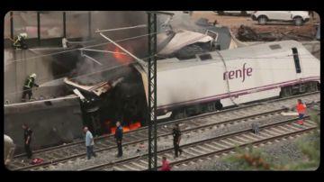 """La llamada de emergencia del maquinista segundos después del accidente de tren de Santiago de Compostela: """"Dios mío, ojalá no haya ningún muerto"""""""
