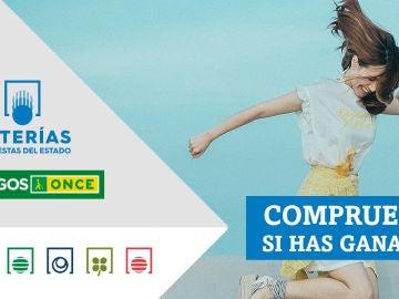 Primitiva, Lotería Nacional, Bonoloto, Sueldazo de la ONCE, Triplex y Super ONCE   Comprobar los resultados del sábado 23 de octubre