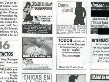 Anuncios de prostitución en la prensa