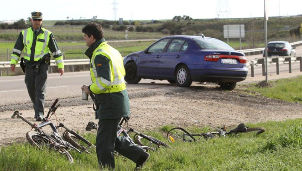 Atropello de ciclistas (Foto de Archivo)