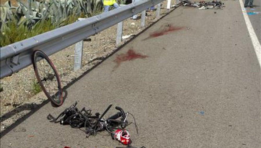 Accidente mortal de dos ciclistas