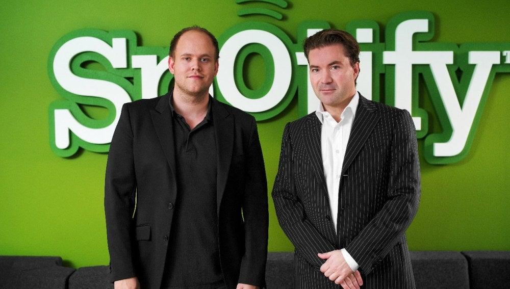 Los fundadores de Daniel Ek y Martin Lorentzon