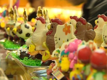 Monas de Pascua de chocolate