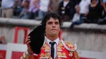 El torero Miguel Abellán durante un festejo taurino