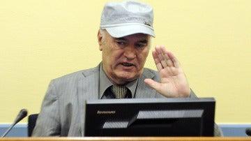 Ratko Mladic, en su comparecencia en La Haya