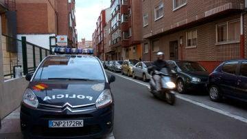 Un coche de la Policía Nacional en un suceso