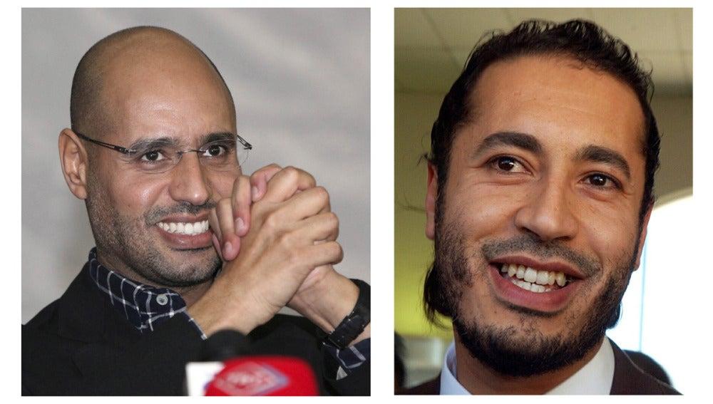 Al-Saadi Gadafi (d), tercer hijo del líder libio Muamar al Gadafi y Saif al-Islam Gadafi