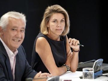 María Dolores de Cospedal junto a Javier Arenas