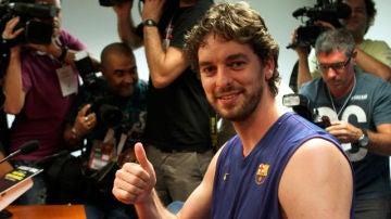 Pau Gasol quiere ganar la Euroliga con el Barça