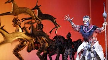 Imagen del musical de El rey León.