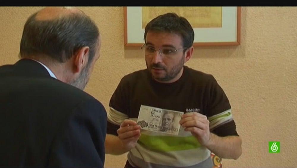 Rubalcaba pesetas