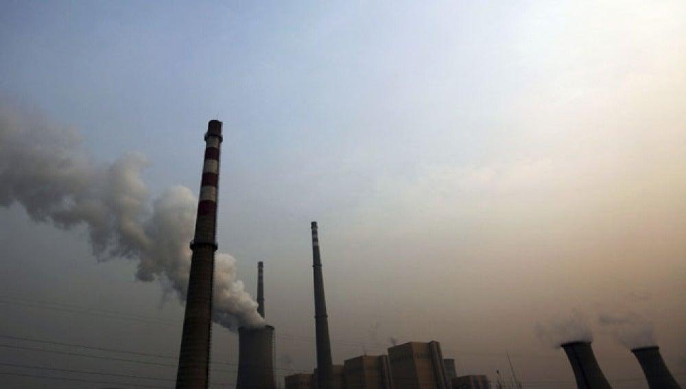 Vista de una central energética en China