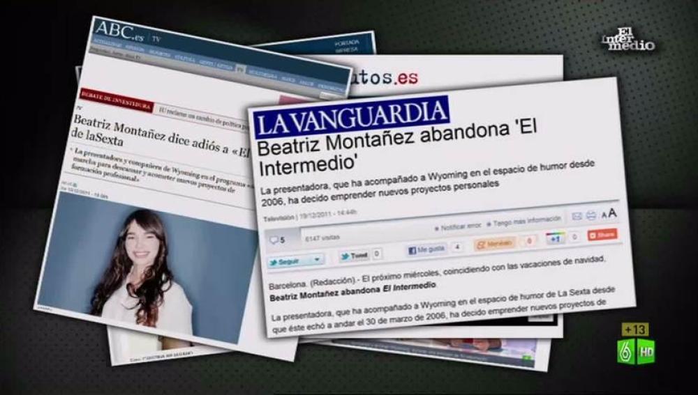 Imagen Beatriz Montañez se despide de El Intermedio