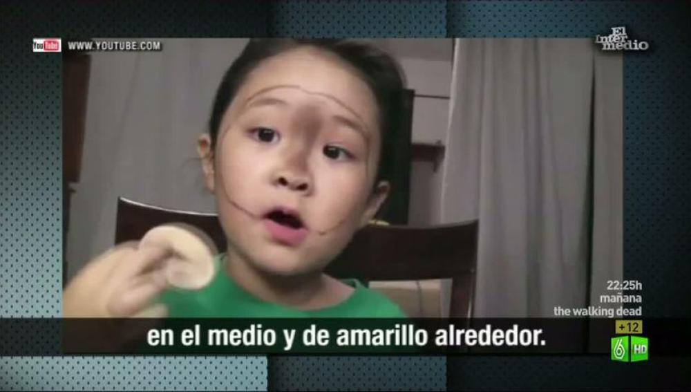 Imagen Clases de maquillaje impartidas por niños a trabes de Youtube