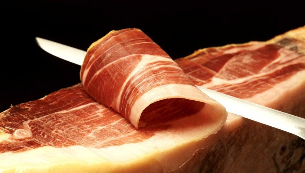 Corte de jamón serrano