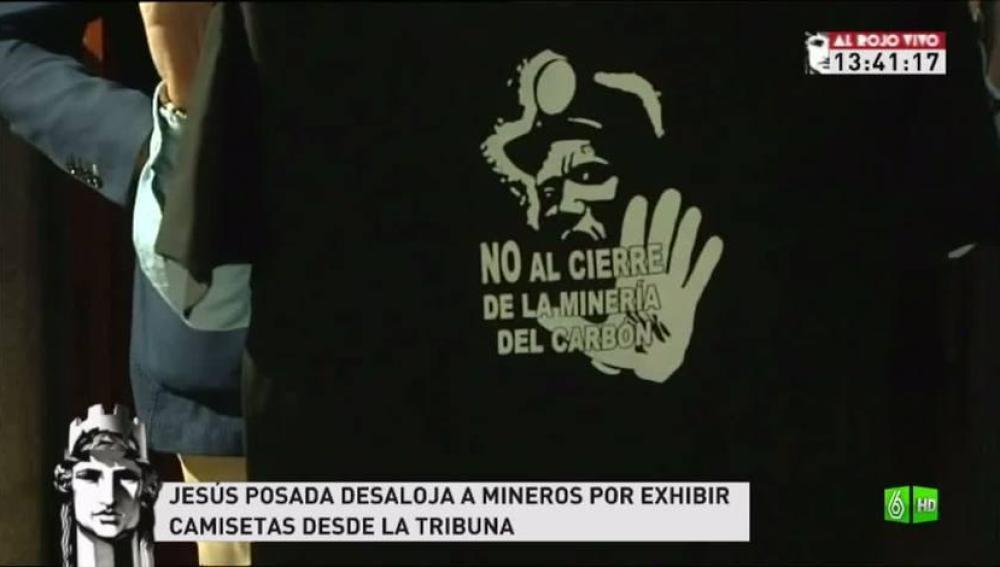 Imagen los mineros protestan