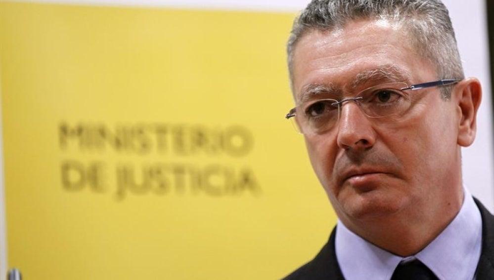 Alberto Ruiz Gallardón, ministro de Justicia.