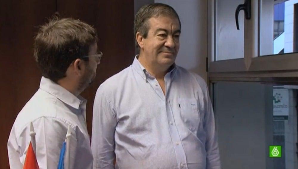 Jordi Évole junto a Francisco Álvarez Cascos