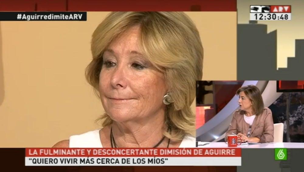 'Al Rojo Vivo' analiza las razones de dimisión de Esperanza Aguirre