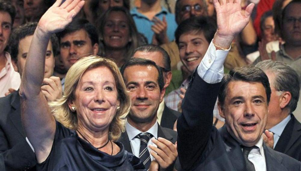Esperanza Aguirre, junto a Ignacio González