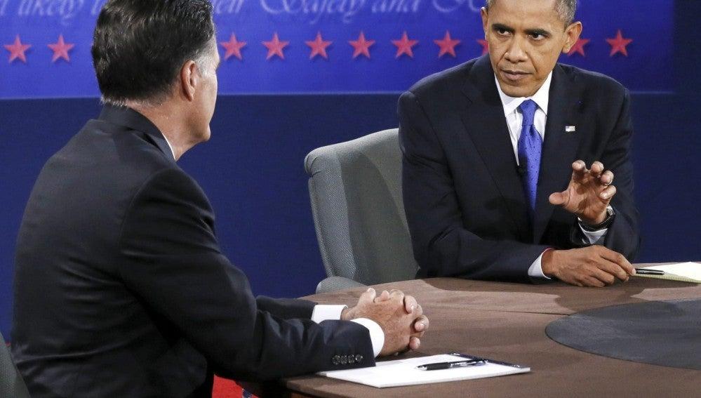Obama y Romney en el último debate