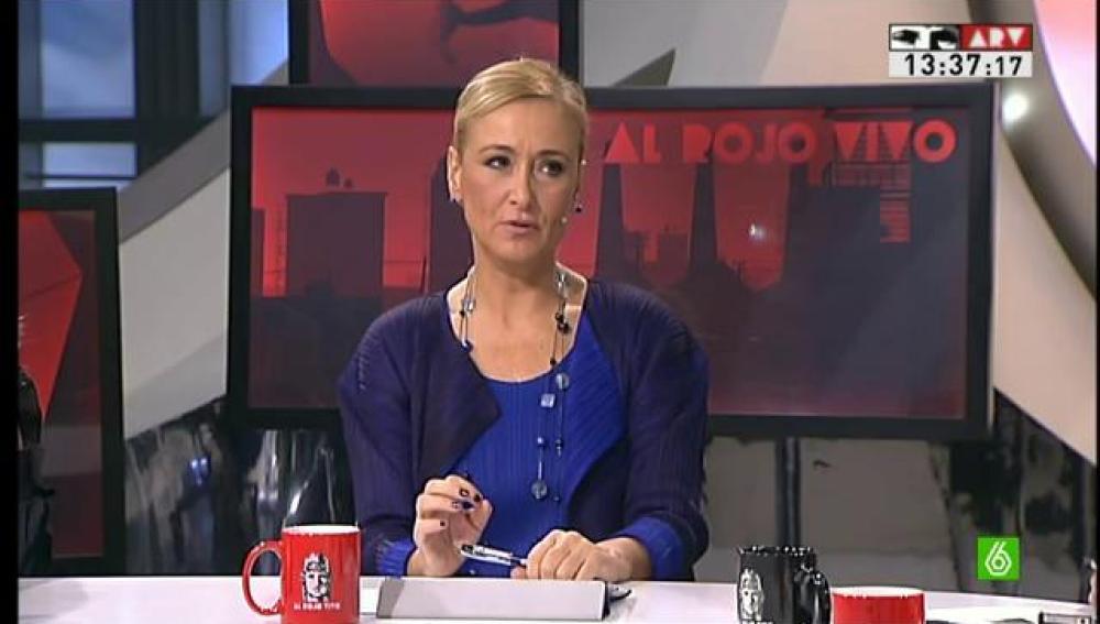 La delegada del Gobierno, Cristina Cifuentes