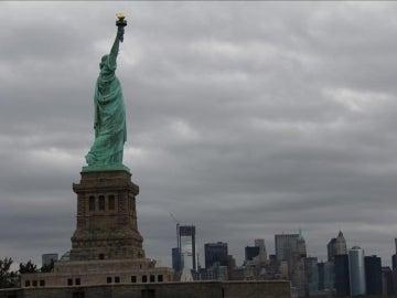 Vista general de la Estatua de la Libertad.