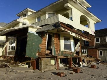 Daños en el barrio de Bay Head, Nueva Jersey, EEUU