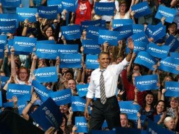 Obama en el Coors Event Center de Boulder, Colorado