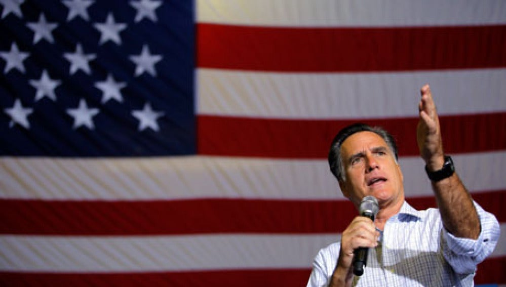 Mitt Romney durante un acto electoral