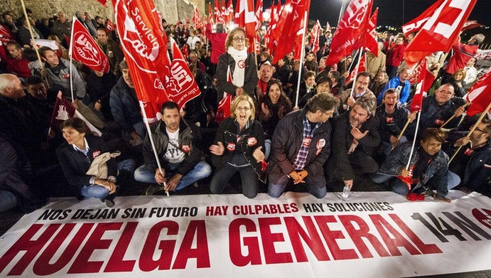 Manifestación 14-N convocada por los sindicatos