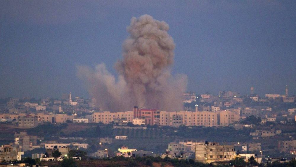 Bombardeo sobre la Franja de Gaza