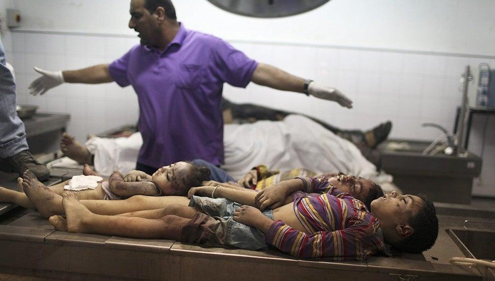 14 niños muertos desde el inicio de los bombardeos