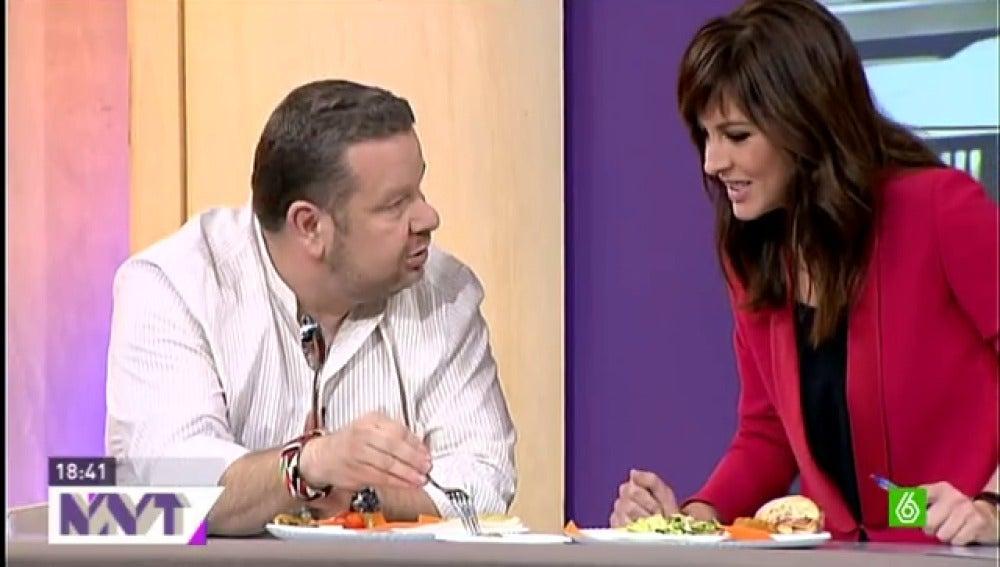 Alberto Chicote con Mamen Mendizábal