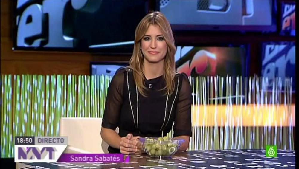 """Sandra Sabatés: """"Chicote y yo daremos las mejores uvas de la historia"""""""