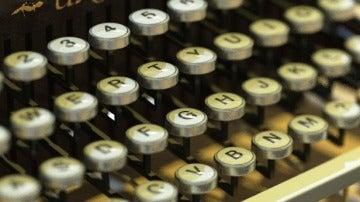Teclado de una máquina de escribir